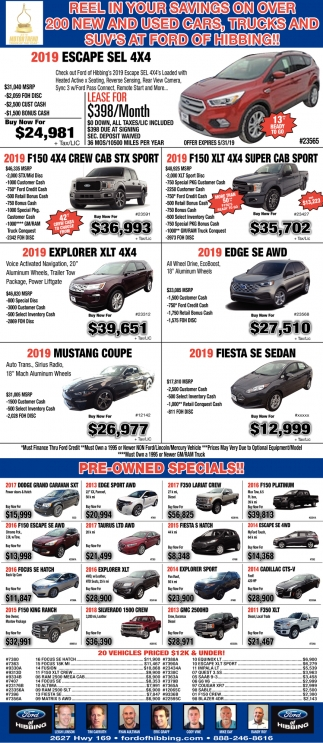 Pre-Owned Specials!!