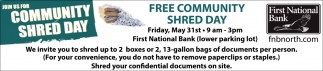 Free Community Shred Day