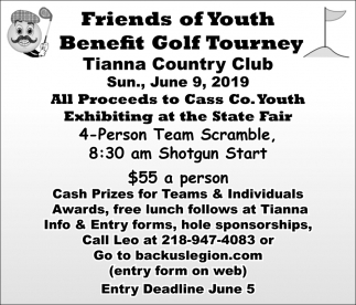 Friends Of Youth Benefit Golf Tourney