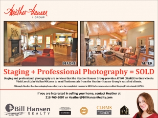 Staging + Professional Photography = Sold