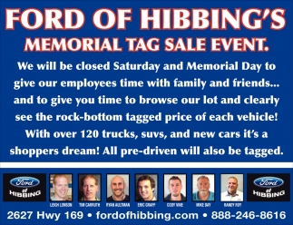 Memorial Tag Sale Event