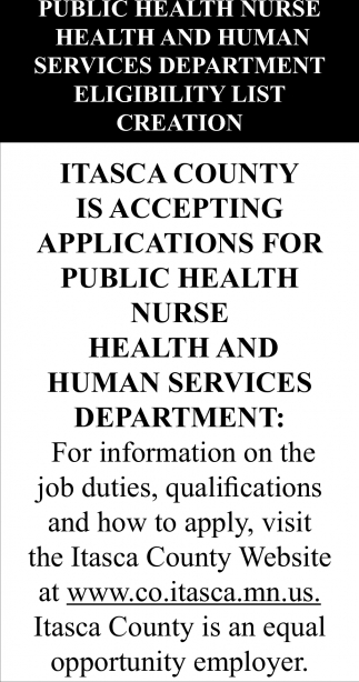 Is Accepting Applications For Public Health Nurse