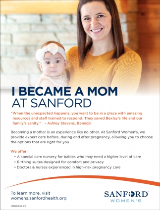 I Became A Mom At Sanford
