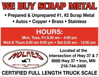 We Buy Scrap Metal