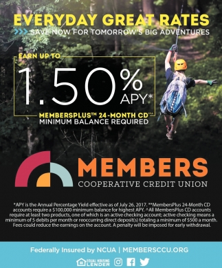 Everyday Great Rates Members Cooperative Credit Union