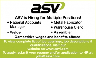 Hiring For Multiple Positions!