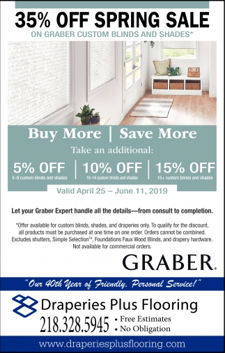 35% Off Spring Sale