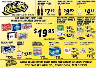 Large Selection Of Beer, Wine And Liquor