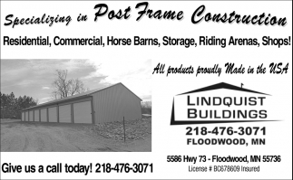 Specializing In Post Frame Construction