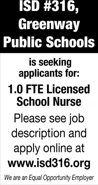 Licensed School Nurse