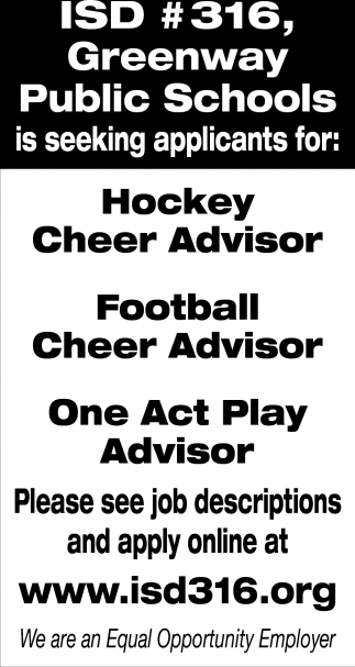 Is Seeking Applicants For