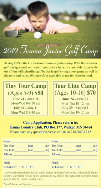 2019 Tianna Junior Golf Camp
