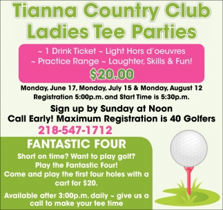 Ladies Tee Parties