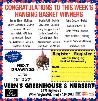 Hanging Basket Winners