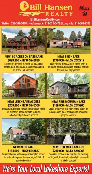 New! Benedict Lake