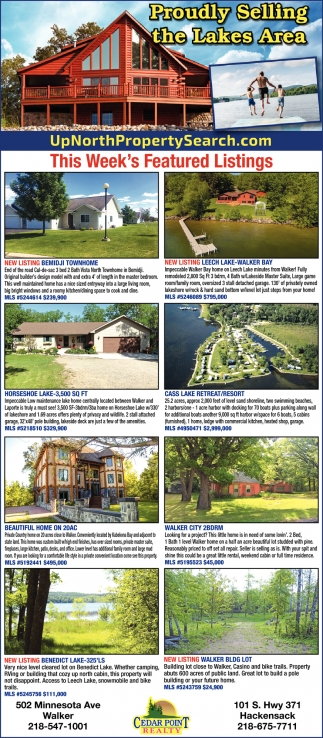 Proudly Selling The Lakes Area