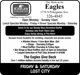 Lunch Specials Monday - Friday