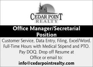 Office Manager/Secretarial Position