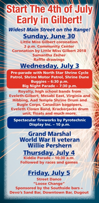 Start The 4th Of July Early In Gilbert!