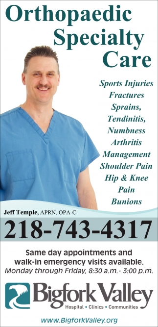 Orthopaedic Specialty Care