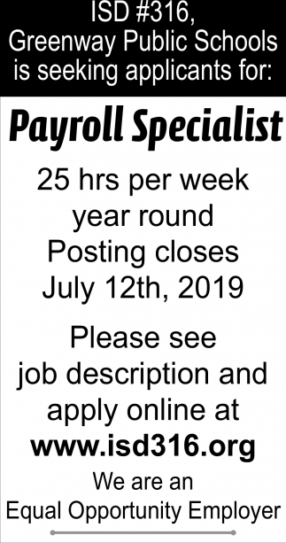 Payroll Specialist