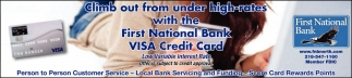 First National Bank Visa Credit Card