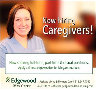 Now Hiring Caregivers!