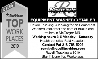 Equipment Washer/Detailer