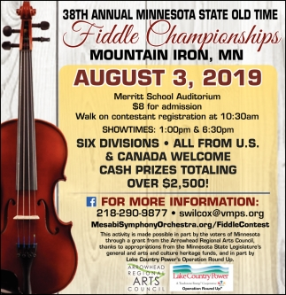 38th Annual Minnesota State Old Time Fiddle Championships