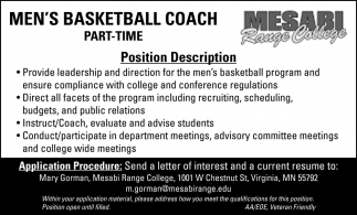 Men's Basketball Coach