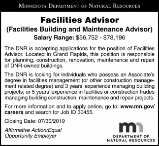 Facilities Advisor