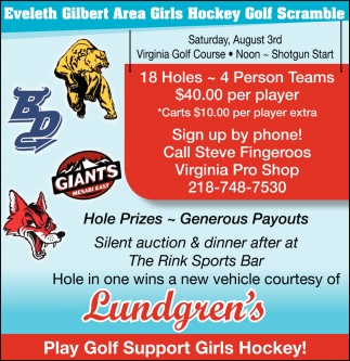 Eveleth Gilbert Area Girls Hockey Golf Scramble