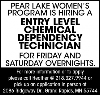 Chemical Dependency Technician