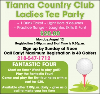 Ladies Tee Party