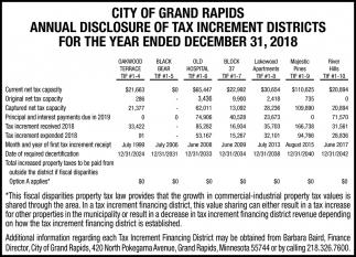 Annual Disclosure Tax