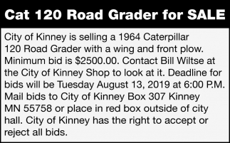 Cat 120 Road Grader For Sale