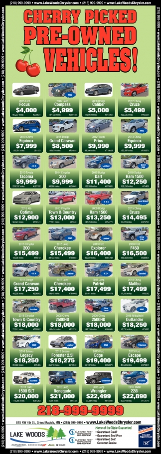 Cherry Picked Pre-Owned Vehicles!