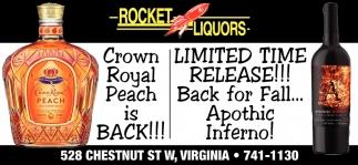 Crown Royal Peach Is Back!!!