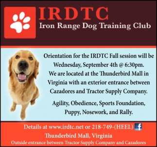 Orientation For The IRDTC Fall Session
