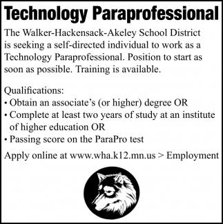Technology Paraprofessionals