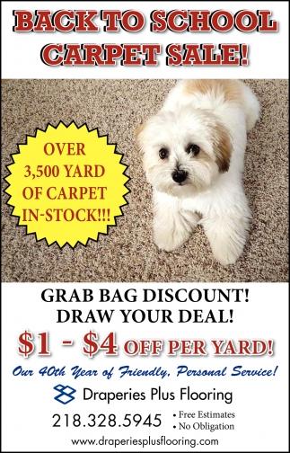 Back To School Carpet Sale!