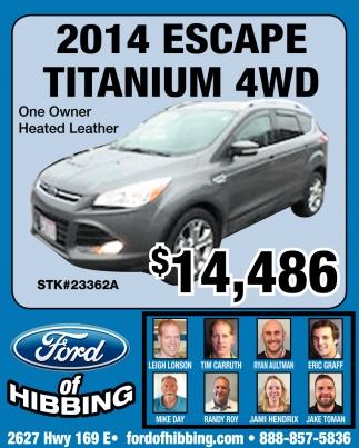 2014 Escape Titanium 4WD