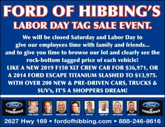 Labor Day Tag Sale Event