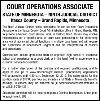 Court Operations Associate