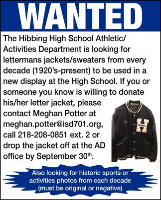 Athletic/Activities Department