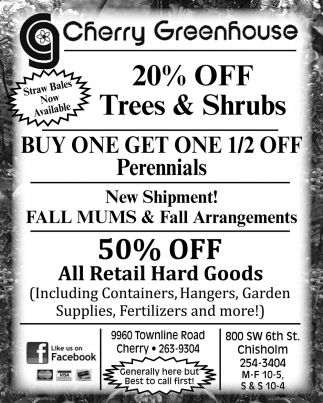 20% Off Trees & Shrubs