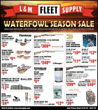 Waterflow Season Sale