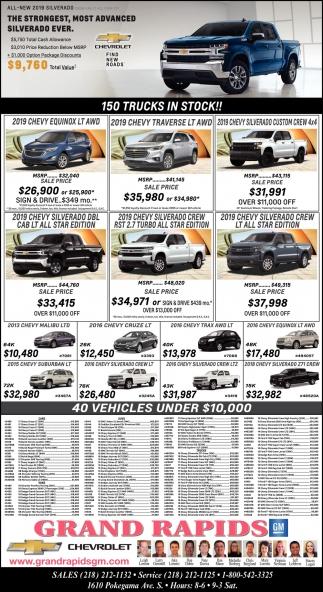 150 Trucks In Stock!