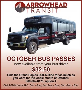 October Bus Passes