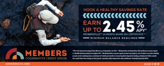 Earn Up To 2.45% APY